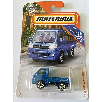 Matchbox 2020 MBX Service 6/20 - Subaru Sambar Truck (Blue): Toys & Games [5Bkhe0303007]