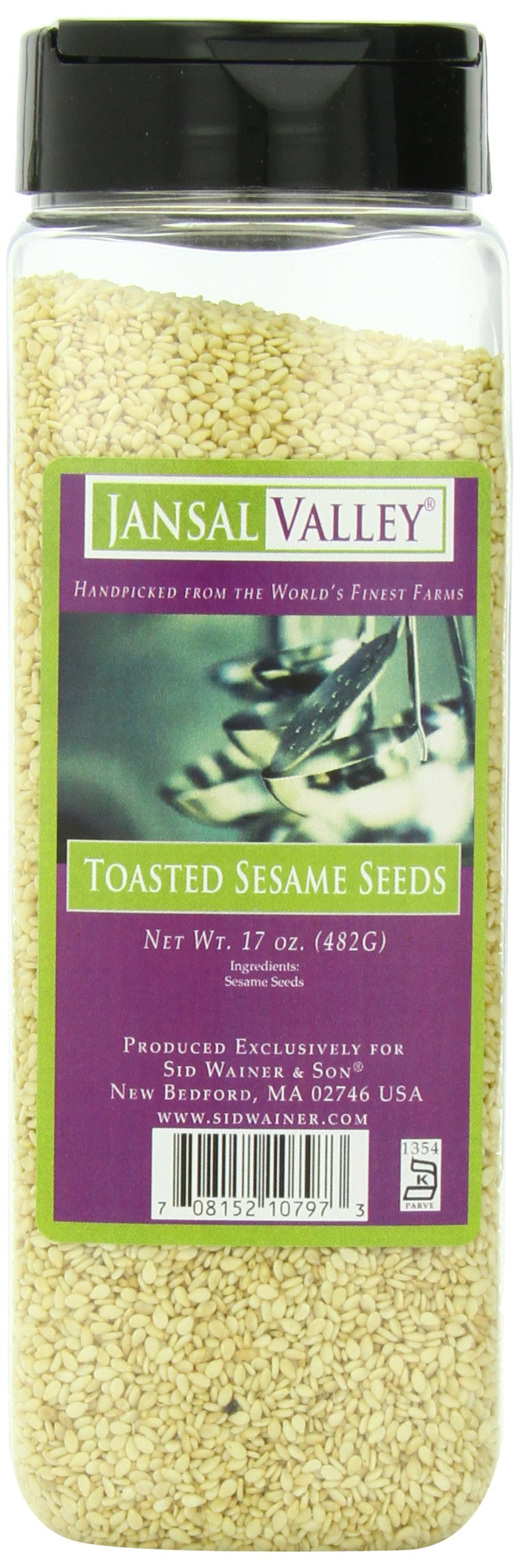 Jansal Valley Toasted Sesame Seeds, 17 Ounce