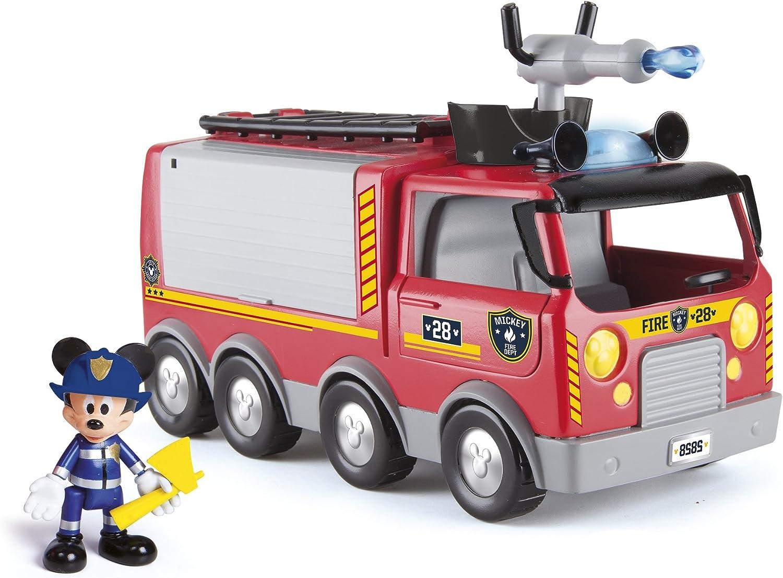 IMC Toys-Emergency Fire Truck Disney Camion de Bomberos ¡Al Rescate, Multicolor, Miscelanea (181922)
