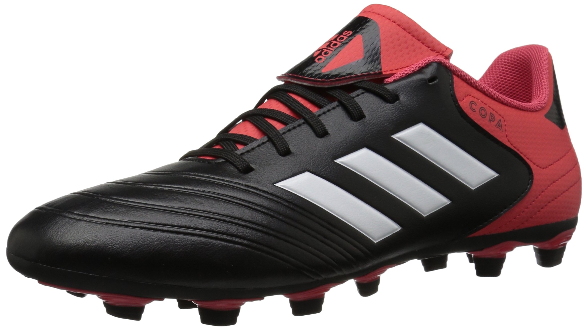 adidas Performance Men's Copa 18.4 FxG Soccer Shoe, Core Black/White/Real Coral, 9.5 M US by adidas