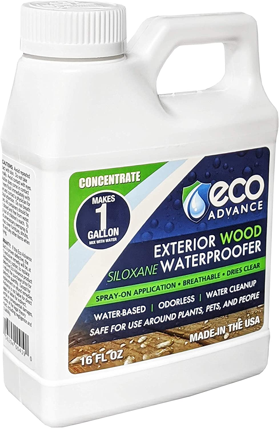 Eco Advance EAWOD16CON Water Repellent Liquid Concentrate