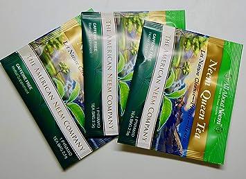 Amazon.com: Trial Size- 100% Pan de neem puro bolsas de té ...