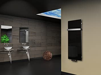 Radiateur de salle de bain design montevideo 2 (vitre avant) mesure ...