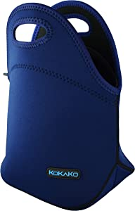 Lunch Boxes Neoprene Lunch Bag by KOKAKO Tote Washable Insulated Waterproof for Men Women Kids(Royal Blue)