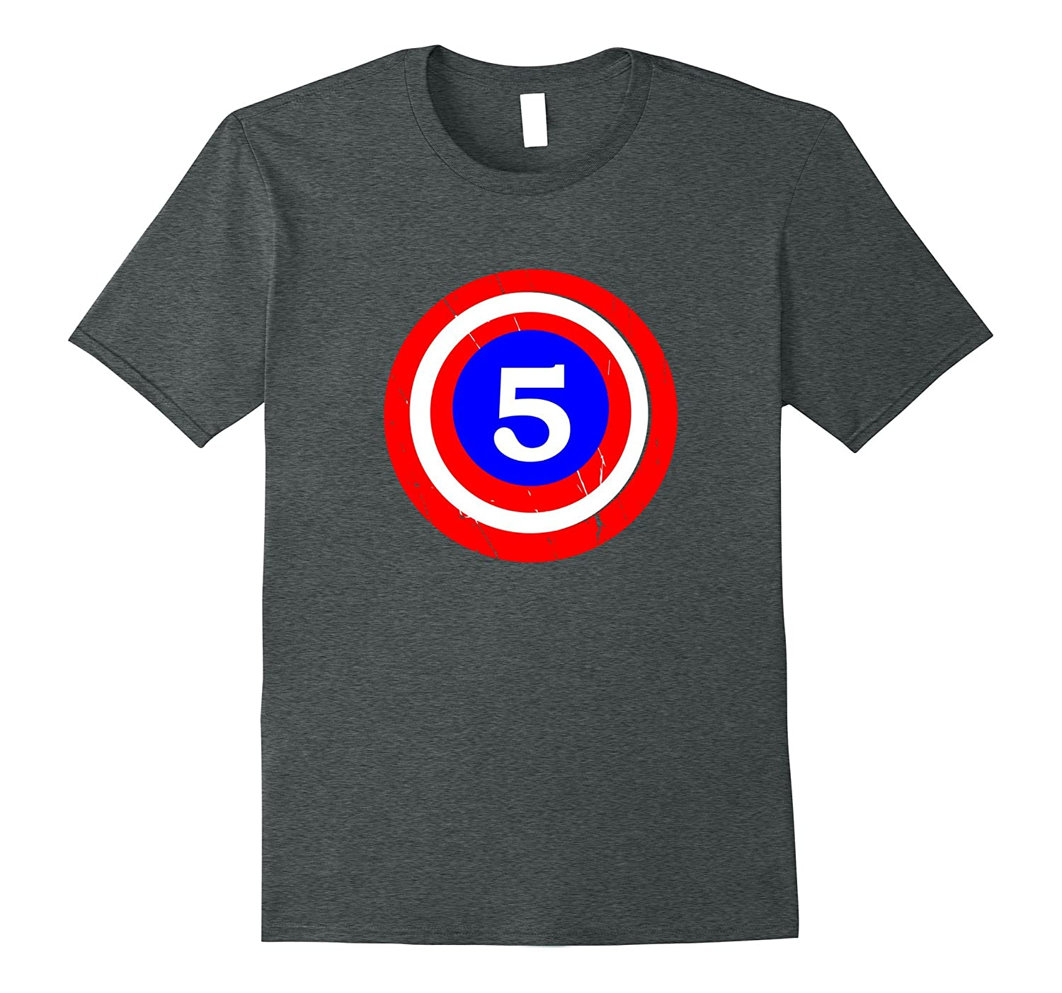 5th Birthday 5 Year Old Kids Captain Funny Gift T-shirt Cute-TH