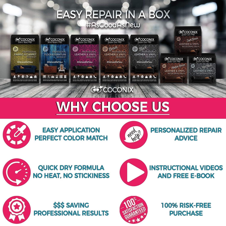 Amazon.com: Coconix - Kit de reparación de cuero negro para ...