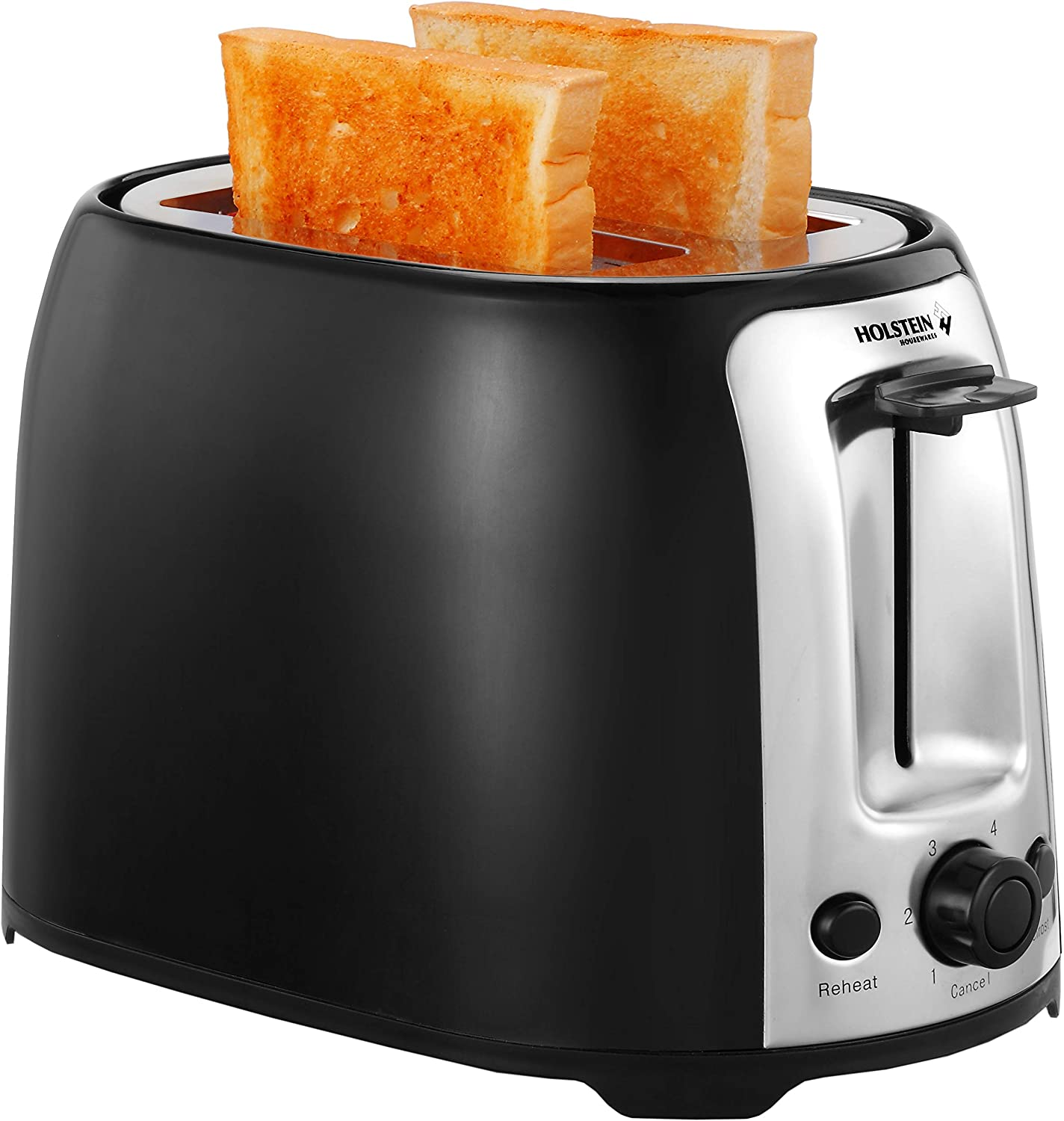 Holstein Housewares HH-09175001B 2-Slice Toaster with 7 Browning Levels, Black