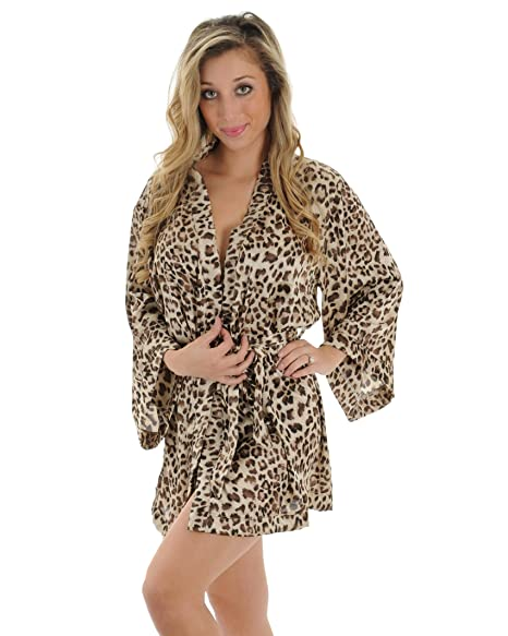 Animal Print Robe Wrap Leopard Print Sleepwear Great Gift Idea Sizes  Small 762584235