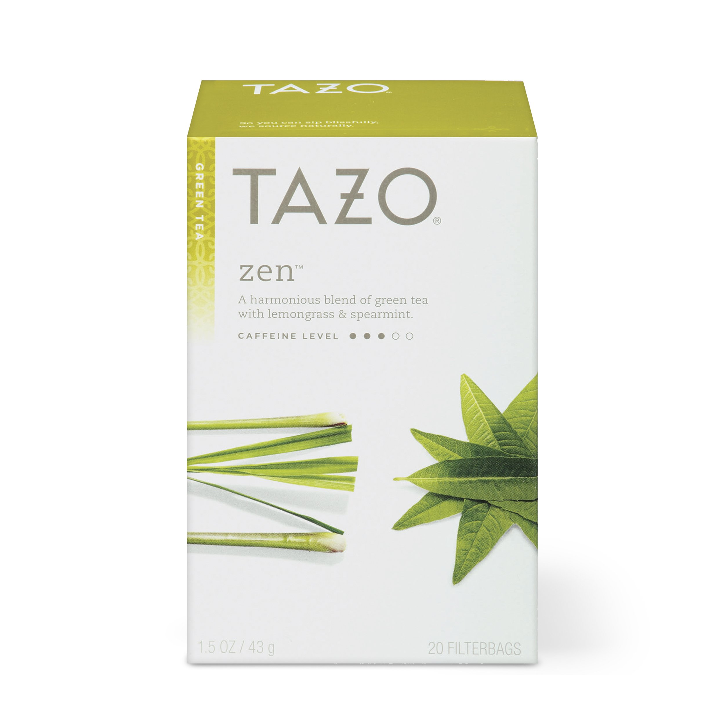 Tazo Zen Green Tea Filterbags, 20 Count (Pack of 6)