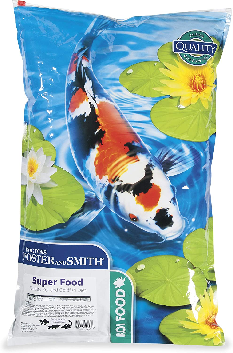 DRS. Foster and Smith Super Food Quality Koi and Goldfish Food, 20 lbs.