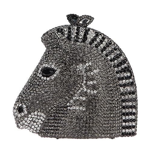 Amazon.com: fawziya 3d cabeza de caballo de diamante bolsos ...