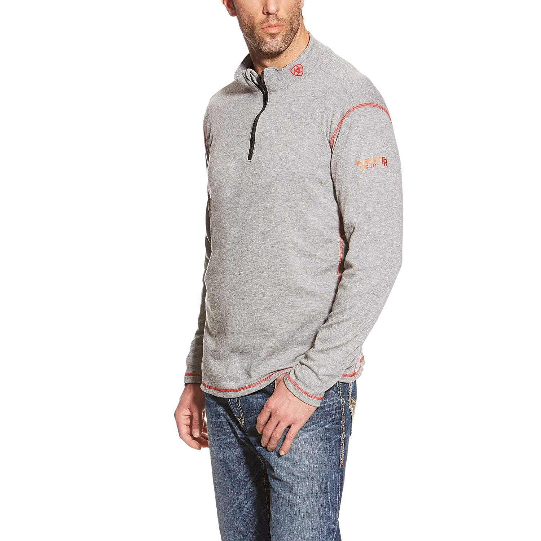 Image of Active Base Layers Ariat Men's Big and Tall Flame Resistant Polartec 1/4 Zip BaselayerShirt