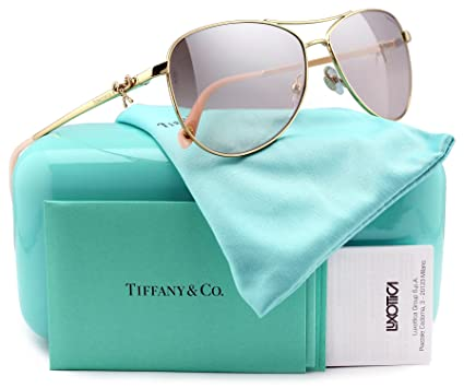 061fb5f2babe4 Image Unavailable. Image not available for. Color  Tiffany   Co. TF3044  Aviator Sunglasses Gold ...