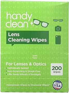 Toallitas limpiadoras para gafas, toallitas húmedas, secado rápido, no dejan marcas, desechables, en paquetes individuales y caja dispensadora: Amazon.es: ...