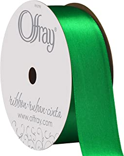 "product image for Berwick Offray 068878 7/8"" Wide Single Face Satin Ribbon, Emerald Green, 6 Yds"