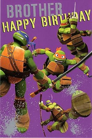 Official Licensed Brother Teenage Mutant Ninja Turtles Birthday Card