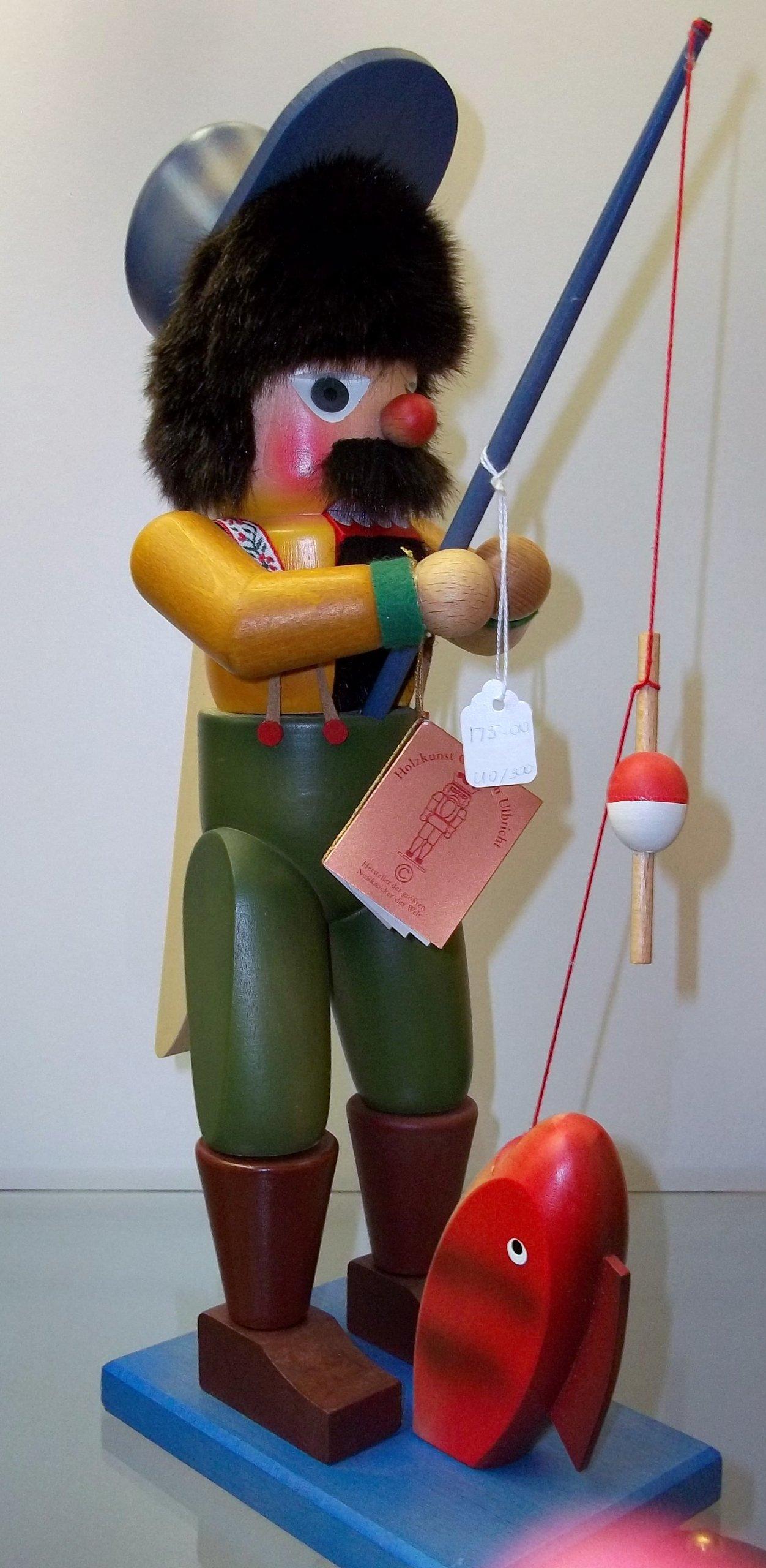 Christian Ulbricht Fisherman Nutcracker with Pole by Ulbricht