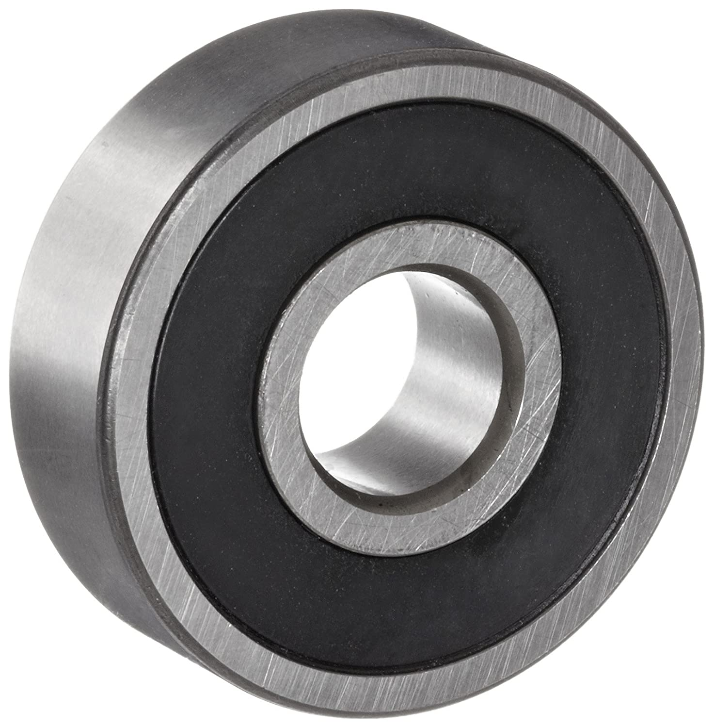 NSK 608VV Deep Groove Ball Bearing, Single Row, Double Sealed, Non-Contact, Pressed Steel Cage, Normal Clearance, Metric, 8mm Bore, 22mm OD, 7mm Width, 34000rpm Maximum Rotational Speed, 1370N Static Load Capacity, 3300N Dynamic Load Capacity