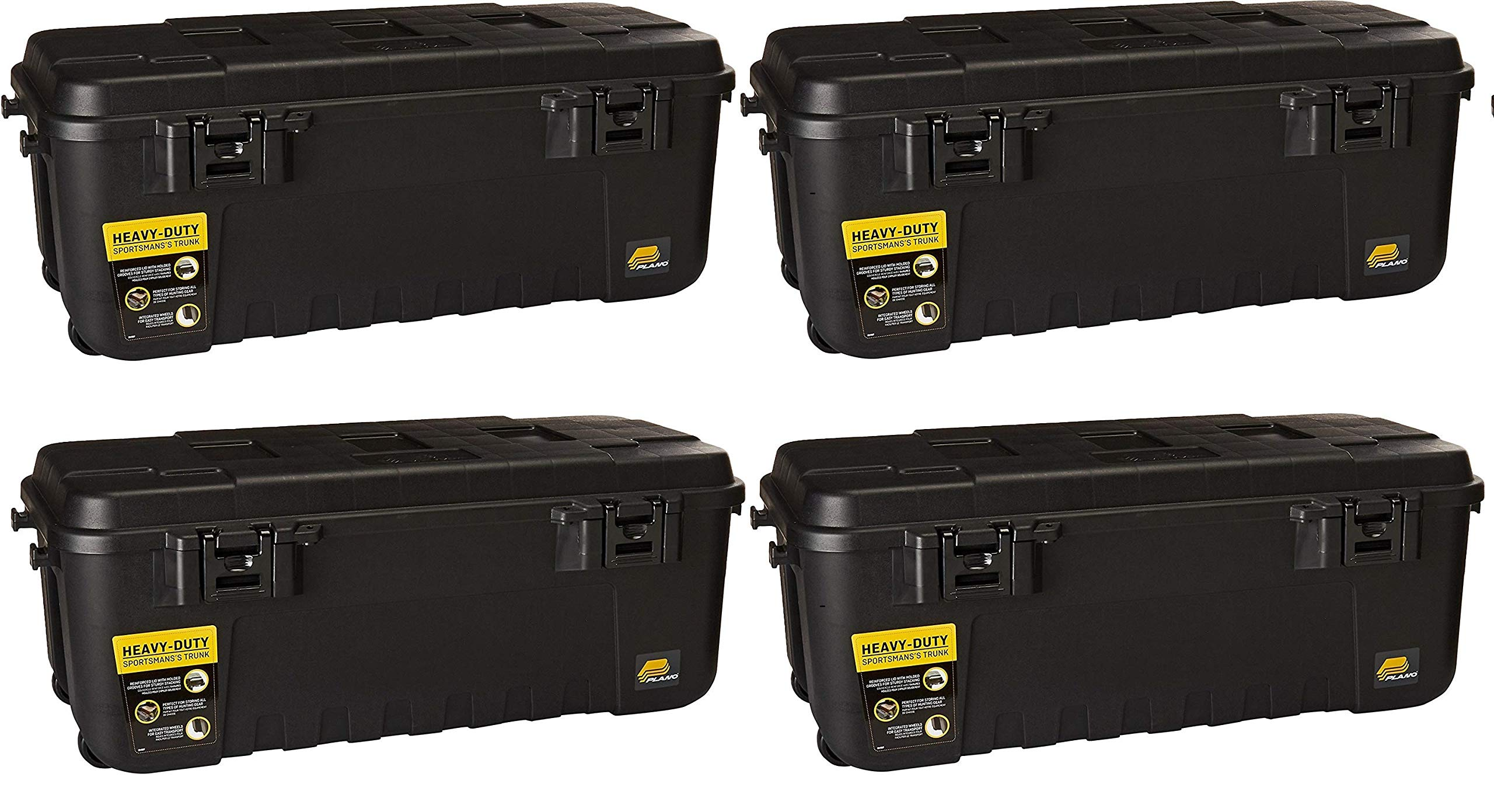 Plano 1919 Sportsman Trunk with Wheels, Black (Pack of 4) by Plano