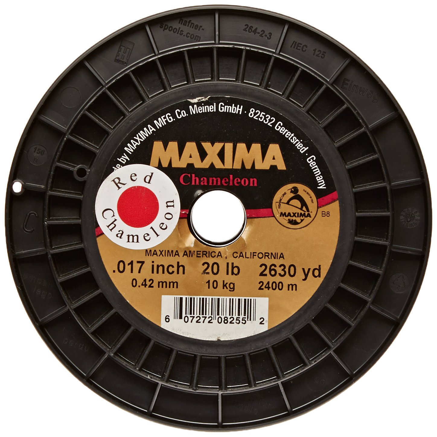 Maxima Fishing Line Service Spools, Chameleon Red, 20-Pound/2630-Yard by Maxima Fishing Line