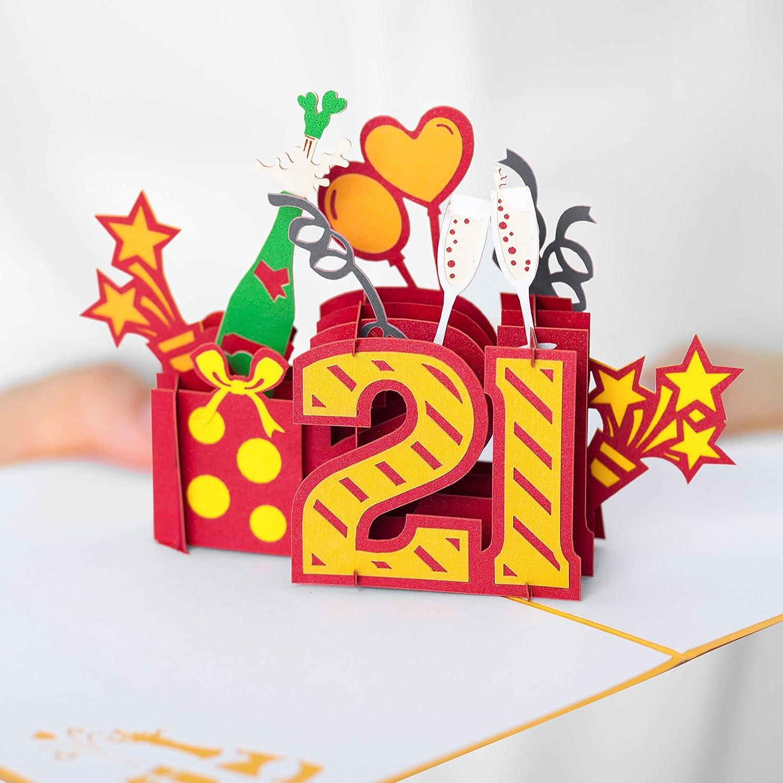 PopUp Card Blue Stars \u2013 70th Birthday Spiral Pop Up Card 70th Birthday Card Spiral Pop Up 3D