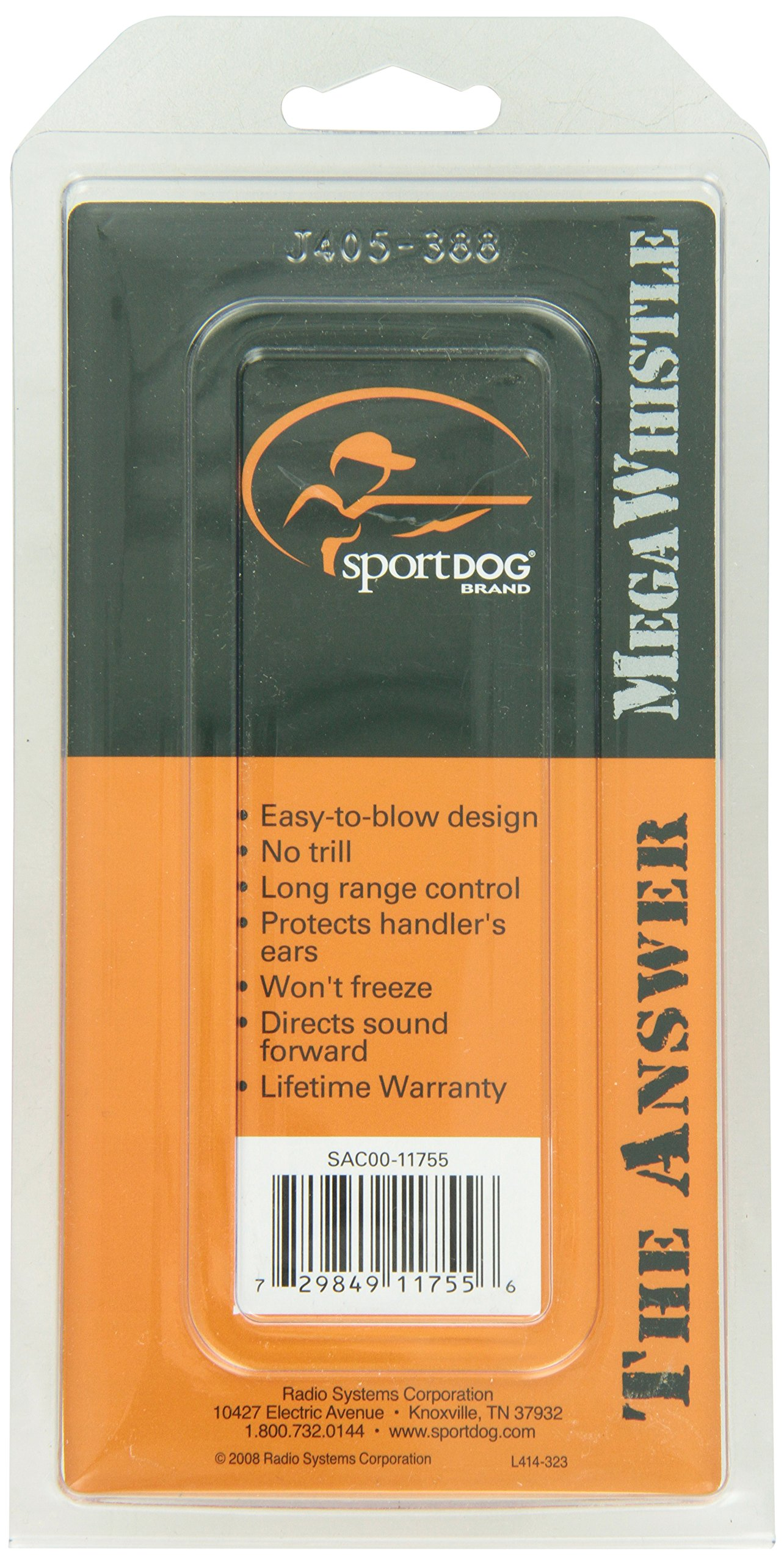 SportDOG Brand Competition Mega Whistle - Hunting Dog Training Whistle with Easy-to-Blow Design - Protects Handlers Ear