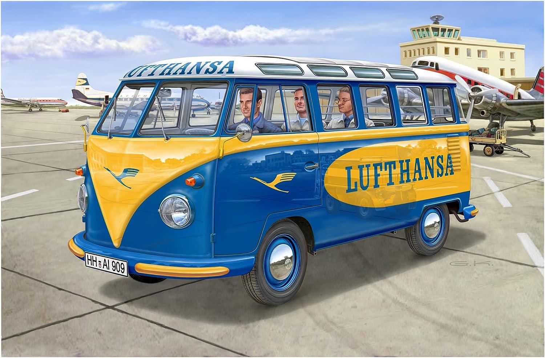 Revell GmbH 07436/1 24/Escala Kit de pl/ástico Modelo VW T1/Samba Bus Lufthansa