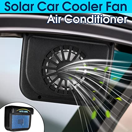 HOT SALE Solar Powered Car Freshener Air System Auto Air Vent Cooling Fan  Window Ventilation Radiator System Car Cooler