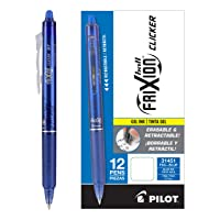 Deals on 12-Ct Pilot FriXion Clicker Erasable Gel Ink Pens Blue Ink
