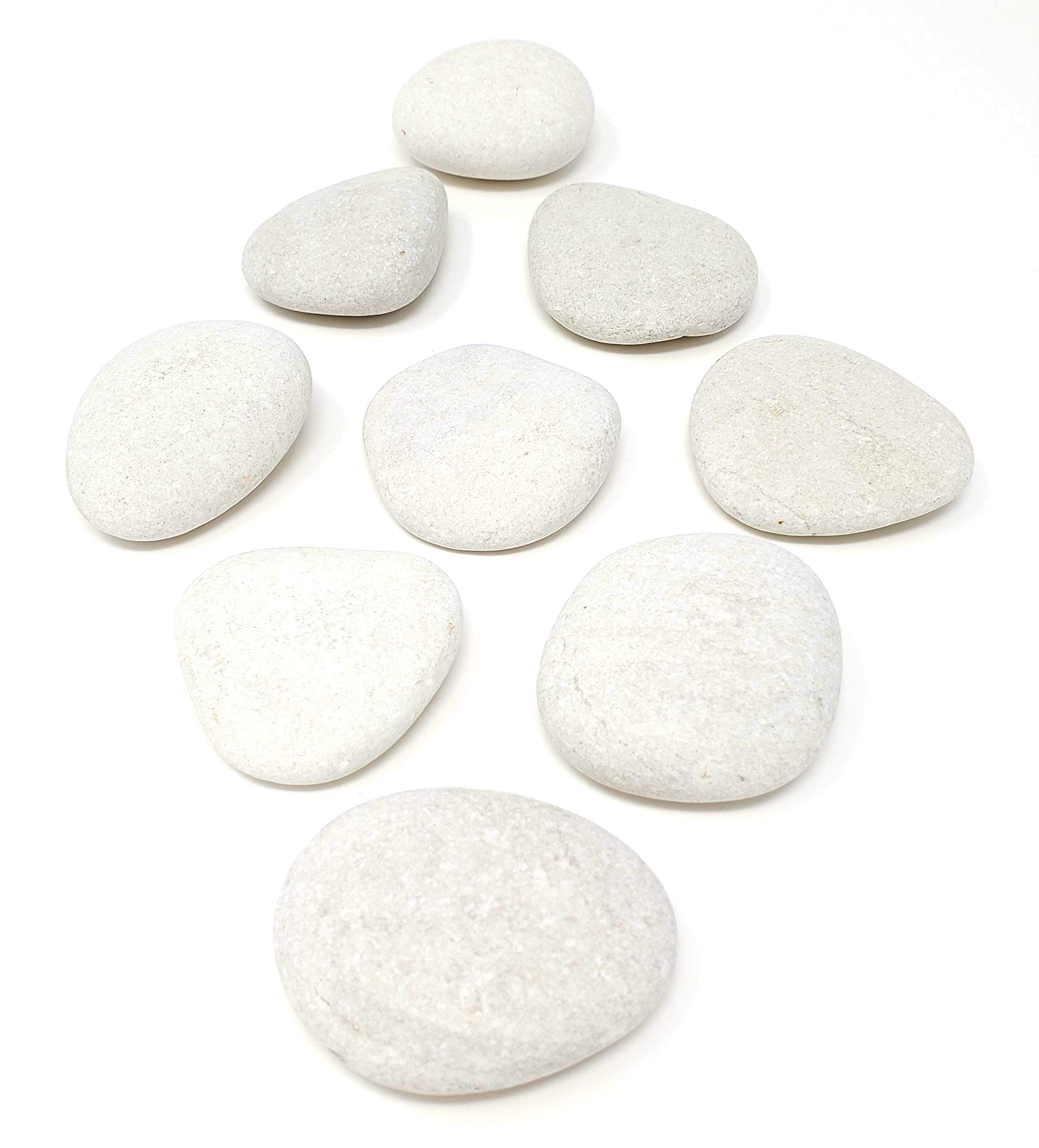 Kindness Rocks Smooth White Rounded Painting Rocks 20 lbs