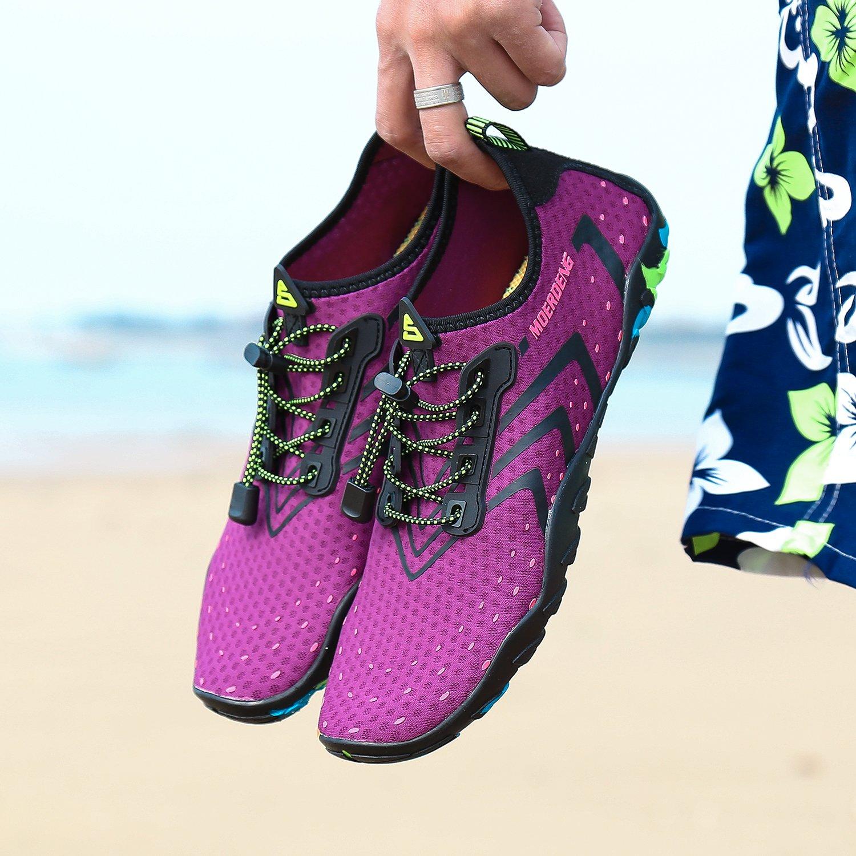 MOERDENG Men Women Water Shoes Quick Dry Barefoot Aqua Socks Swim Shoes for Pool Beach Walking Running by MOERDENG