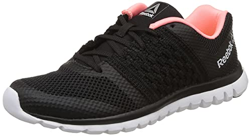 68444a0eec6 Image Unavailable. Image not available for. Colour  Reebok Women s Sublite  Transition Black Melon Metsil Wht Running Shoes ...