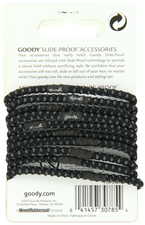 Amazon.com   Goody Slide Proof Stayput Black Hair Elastics 91c73ea97ea