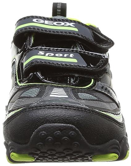 Geox Tornado, Sneaker Bambino, Multicolore (BlackLime), 28
