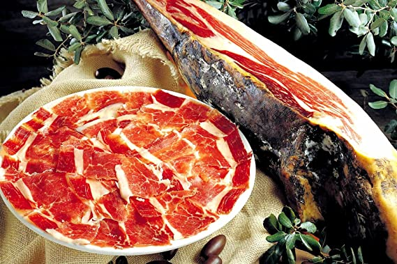 Jamón Ibérico (Pata negra) Loncheado a Cuchillo. Lote de 10 platos 100 Grs. Ud.: Amazon.es: Alimentación y bebidas