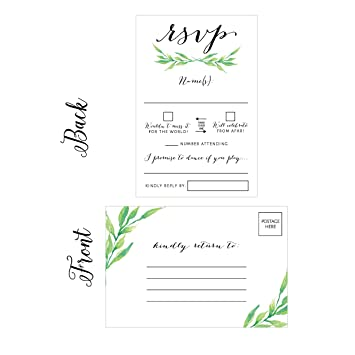 Amazon 50 floral rsvp cards rsvp postcards no envelopes 50 floral rsvp cards rsvp postcards no envelopes needed response card blank rsvp bookmarktalkfo Image collections