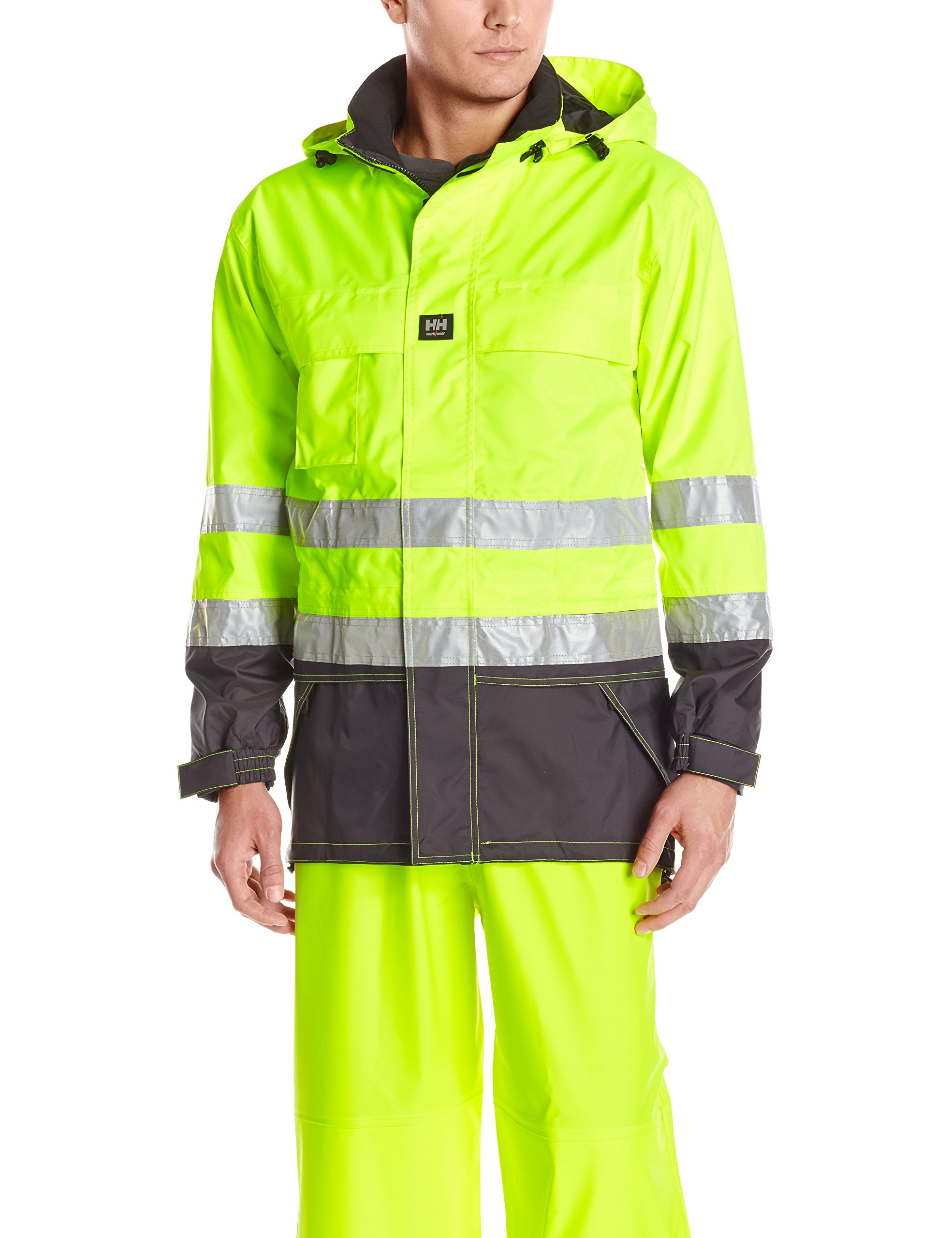 Helly Hansen Workwear Potsdam High Visibility Jacket, En471 Yellow/Charcoal, M by Helly Hansen