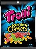 Trolli Gummi Sour Brite Crawlers Gummy Candy, 5 Ounces