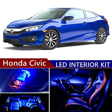 Honda Civic 2013 2017 LED Premium Blue Light Interior Package Kit ( 9 Pcs )