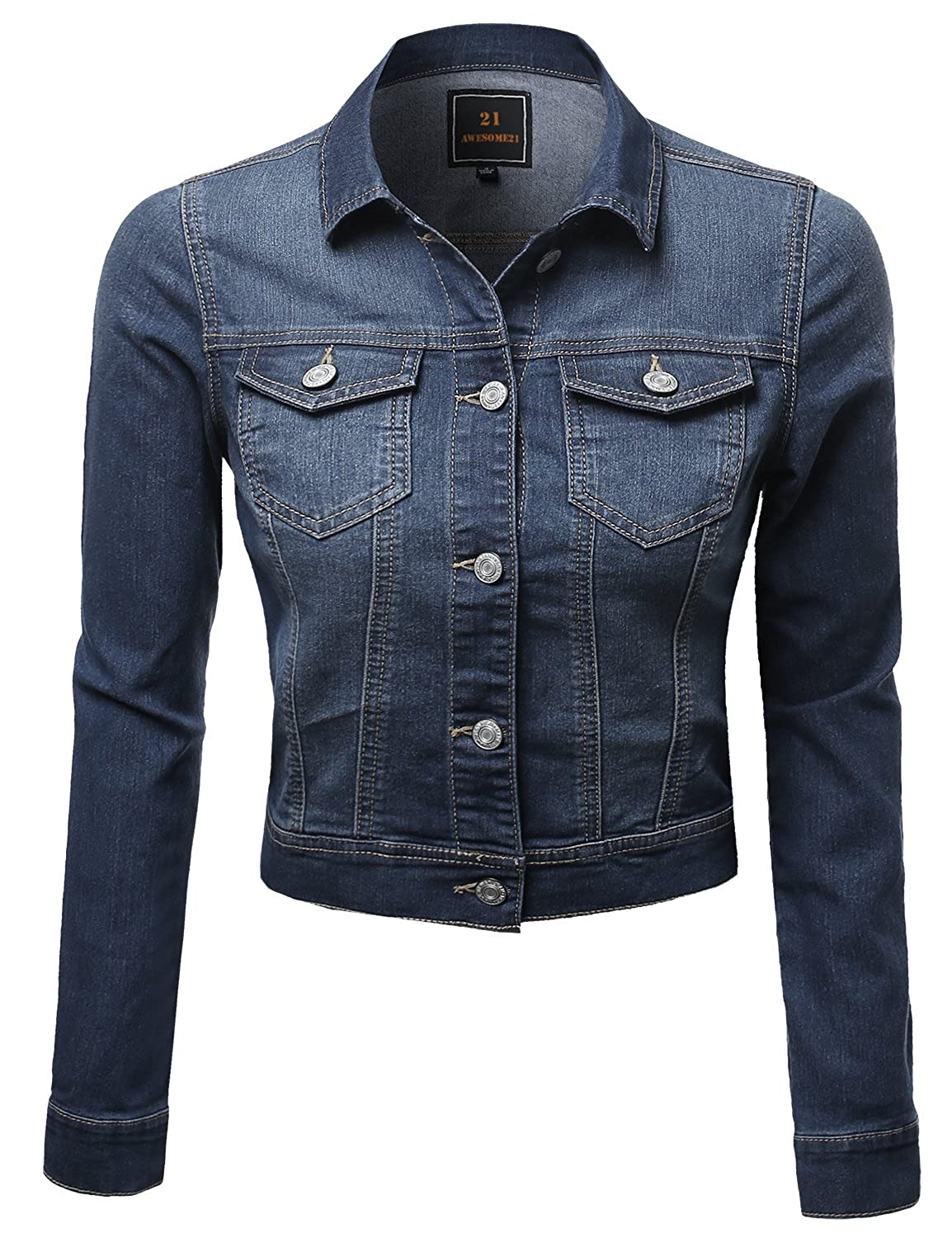 62f0d54e70b Button closure. Tired of cheap stiff denim jacekets? This Great Strechy  denim doesn\'t bother your movement at all! Machine wash cold. Do not  bleach.