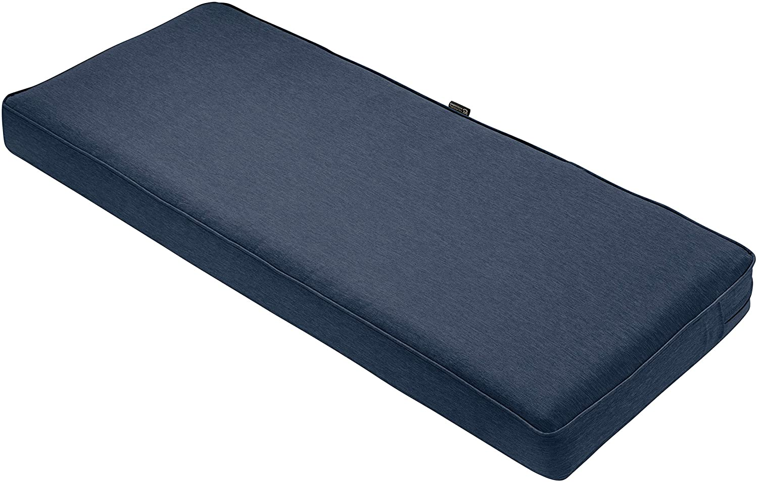 "Classic Accessories Montlake Bench Cushion Foam & Slip Cover, Heather Indigo, 42x18x3"" Thick"