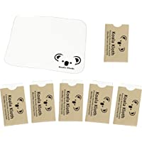 Koala Kloth Microfiber Cleaning Cloth | Eyeglass Lens Cleaner | Glasses, Phone, Camera, Computer Screen Cleaning | Safe for All Coated Lenses | 6 Pack, 6x7 Inch, Black