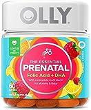 OLLY The Essential Prenatal Gummy Multivitamin, 30 Day Supply (60 Gummies), Sweet Citrus, Folic Acid, Vitamin D, Omega 3…