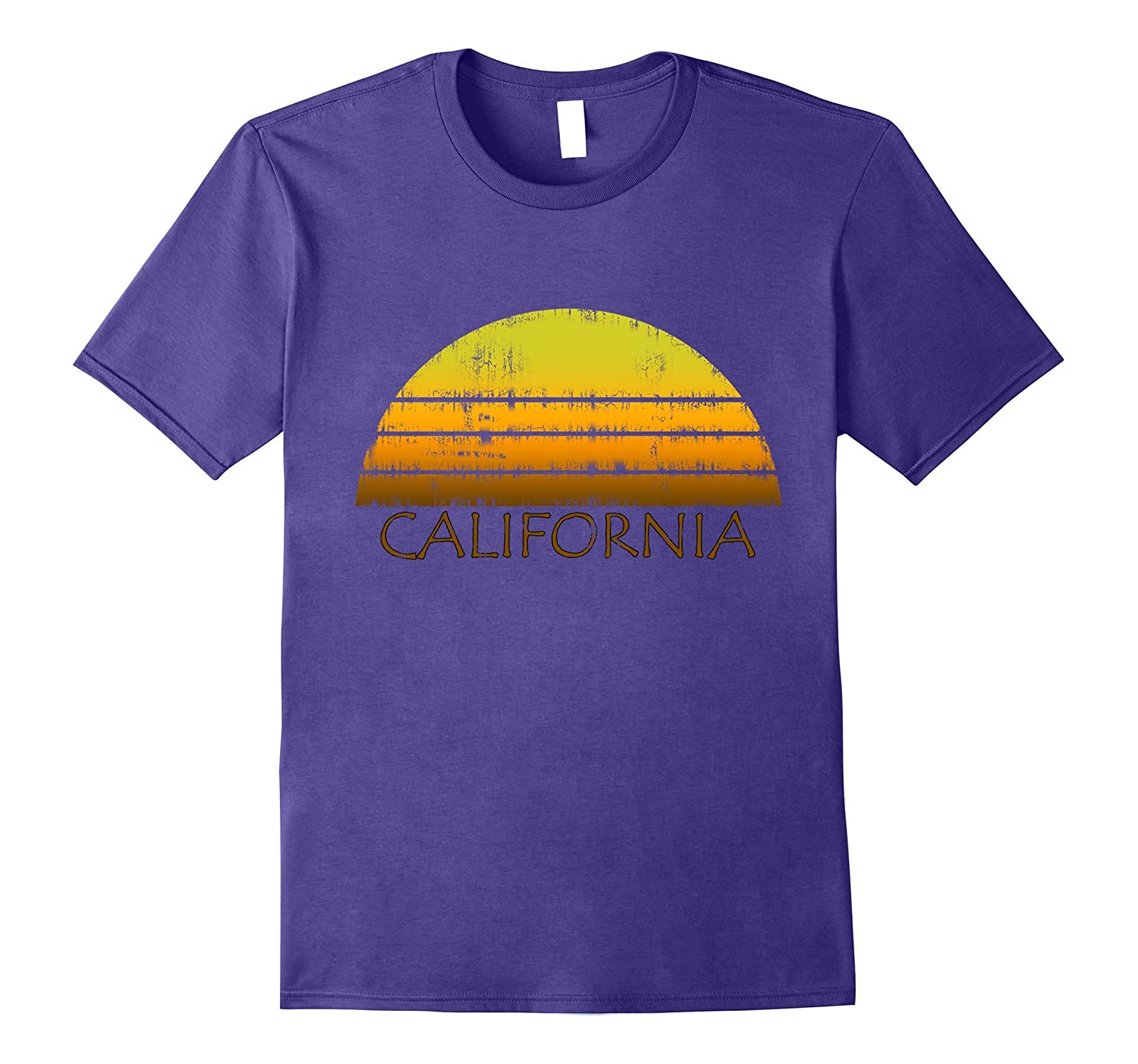 Classic Retro California Vintage Style Distressed T-Shirt-FL