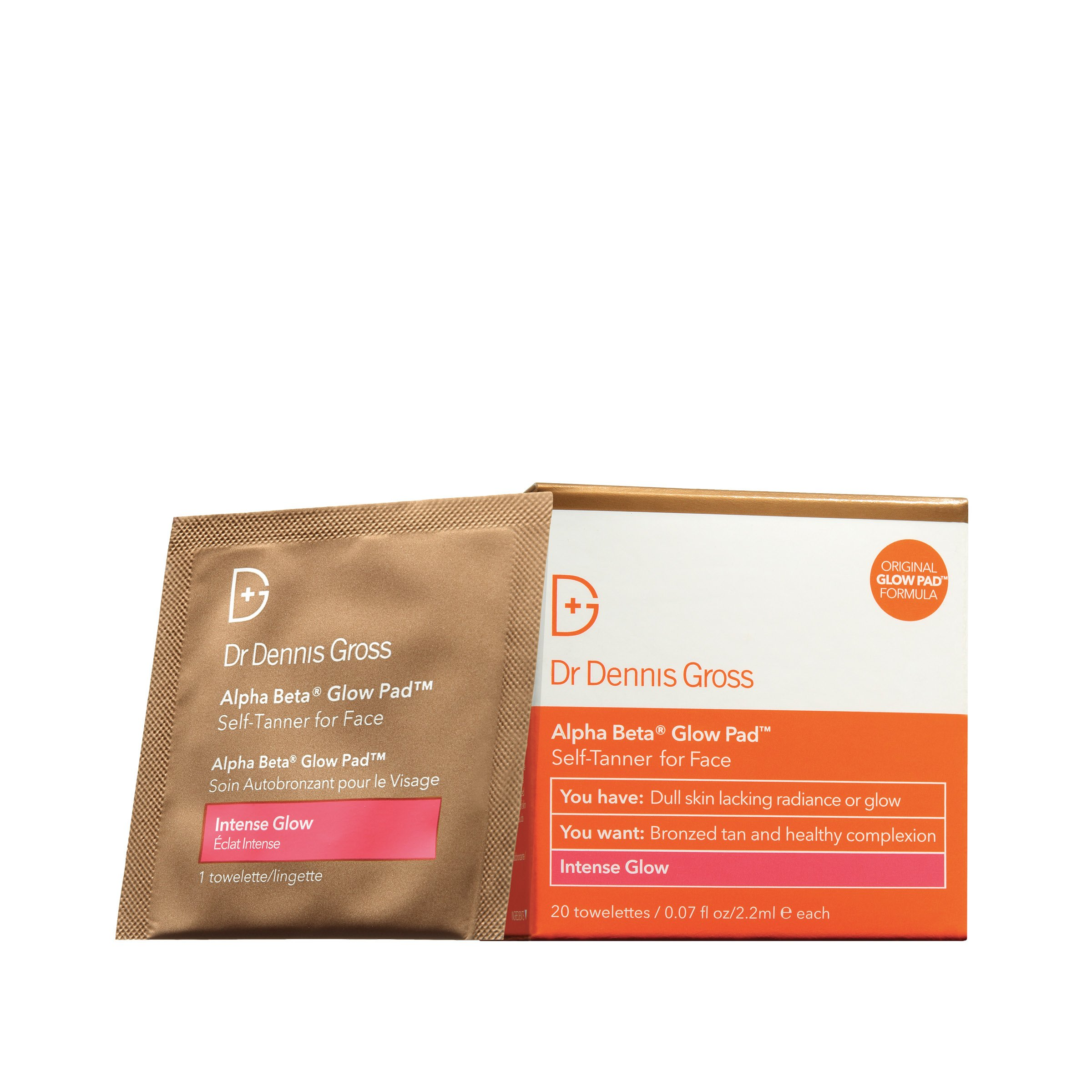 Alpha Beta Glow Pad Intense Glow by Dr. Dennis Gross Skincare