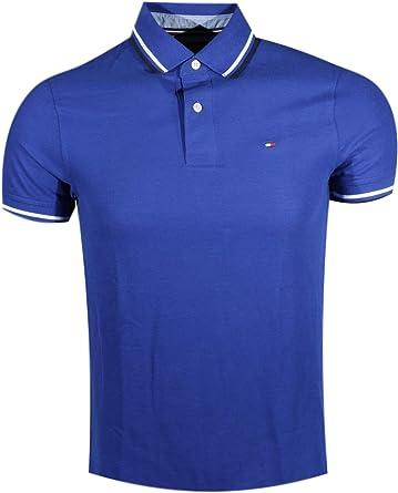 Tommy Hilfiger - Polo con Cuello a Rayas para Hombre Azul Real ...