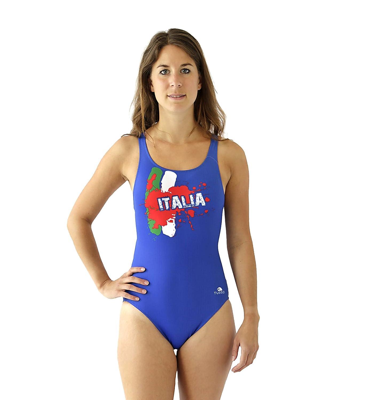 TURBO Sport Badeanzug ITALIA für Schwimmerinnen Waterpolo Triathlon - Schwimmanzug