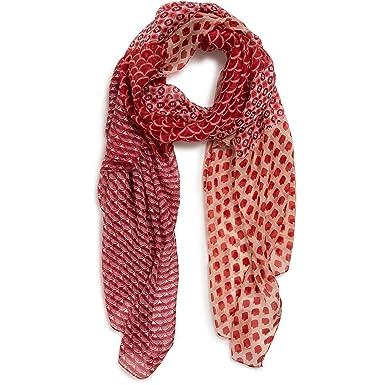 e2dd21102f32 Monoprix FEMME - Etole en soie imprimé patchwork - Femme - Taille   TU -  Couleur