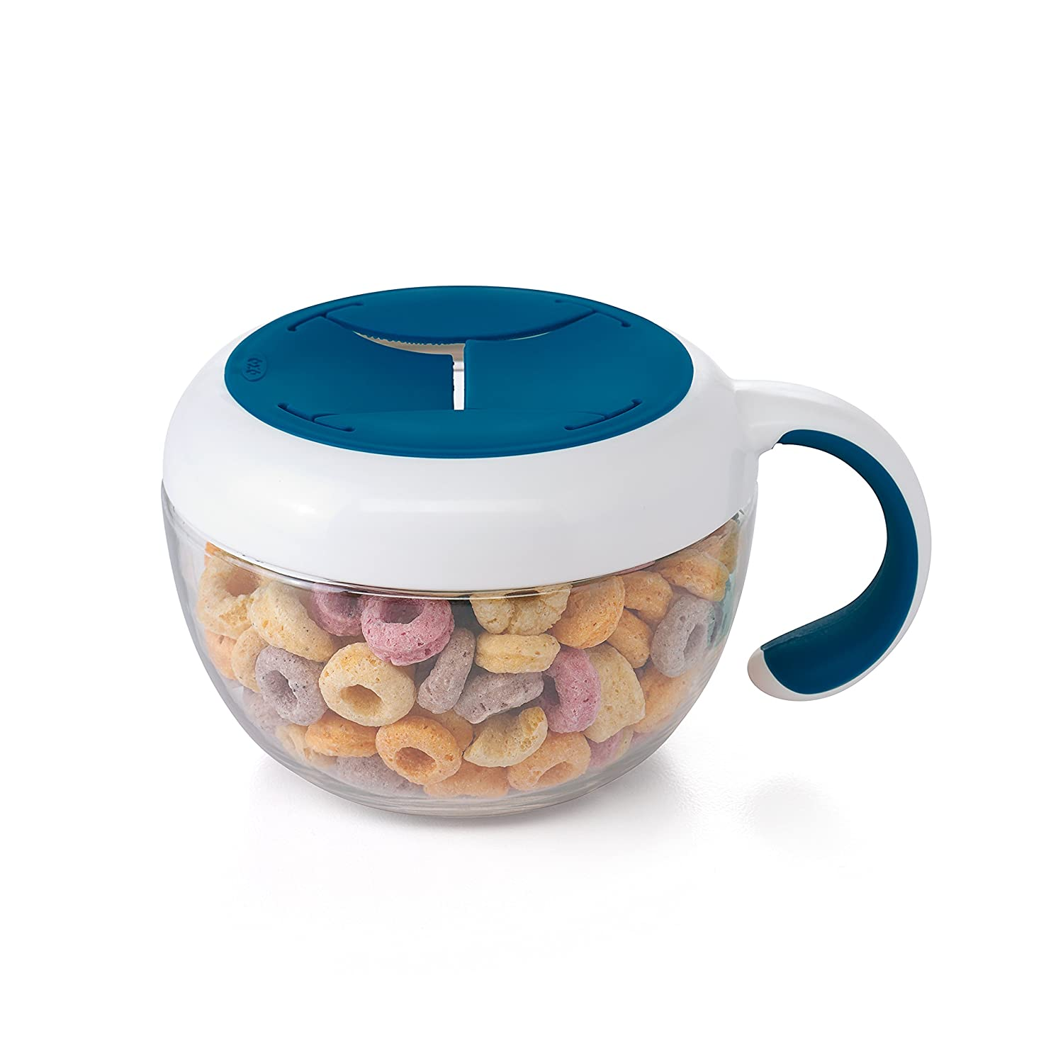 OXO Tot Flippy Snack Cup with Travel Lid, Navy 61132100