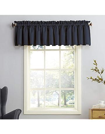 Valance 50 x 16 Winston Geometric Squares Pale Blue Taupe Grey  White Curtain Valance Topper Window Valance Window treatment